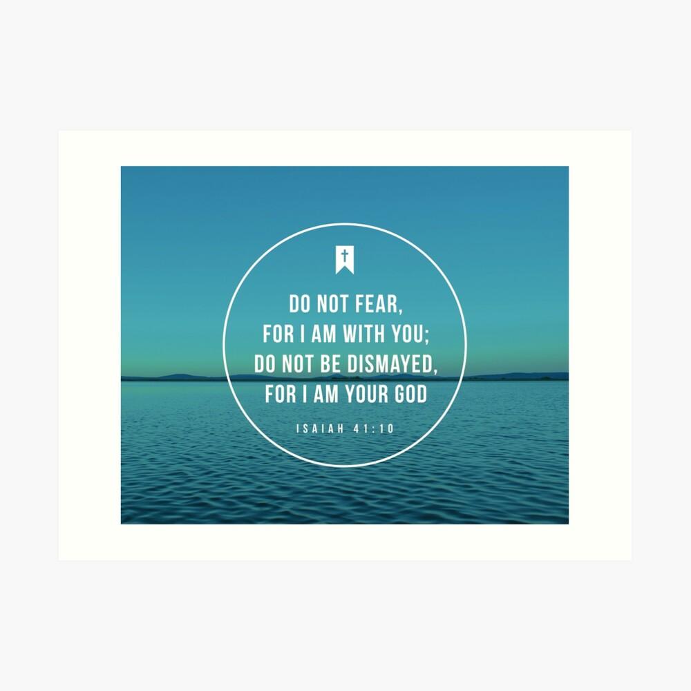 Jesaja 41:10 Kunstdruck
