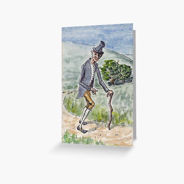 There Was a Crooked Man Greeting Card