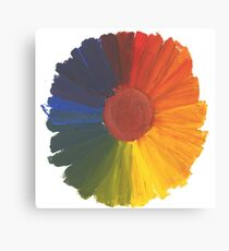 Colour Wheel Flower Canvas Print