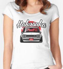 Hakosuka GTR White Women's Fitted Scoop T-Shirt