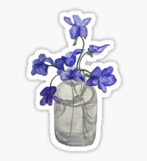 Jar of Violets Sticker