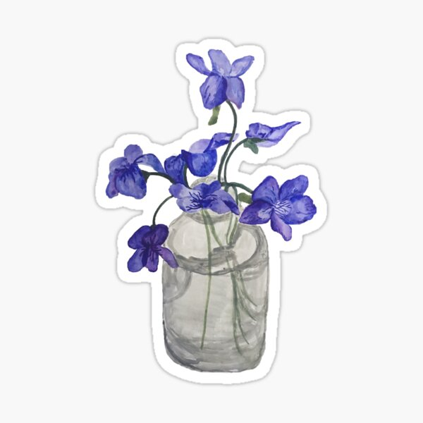 Jar of Violets Sticker