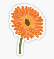Stylized Gerber (Gerbera) Daisy Sticker