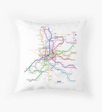 Madrid underground map Floor Pillow