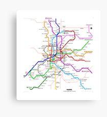 Madrid underground map Canvas Print