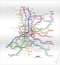 Madrid underground map Poster
