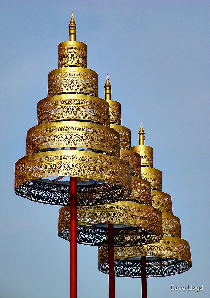 Gold Umbrellas by Dave Lloyd
