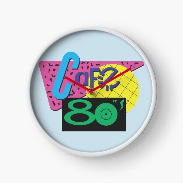 Back To The Cafe 80's Clock