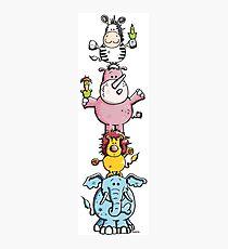 Best Friends - Animals - Zoo - Kids - Gift - Animal - Comic Photographic Print