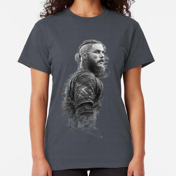 Ragnar Woman T-shirt Vikings Longship Norsemen Ragnar Ragnar Rollo Lodbrok Tatouage