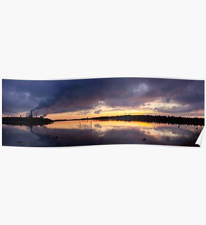 Oulu sunset Poster