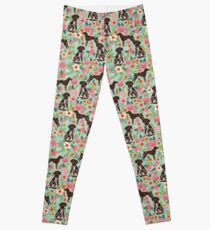 German Shorthair Pointer floral dog pattern gifts for dog lovers Leggings