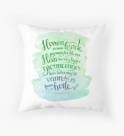 Herren er min hyrde Throw Pillow
