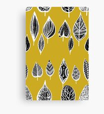 leaves of trees decor decoration yellow Canvas Print