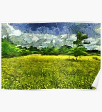 Yellow Flower Meadow Poster