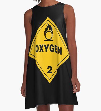 Warning Oxygen 2 A-Line Dress