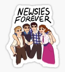 newsies core four Sticker