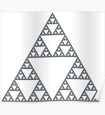 Sierpiński triangle - 7 Steps Poster