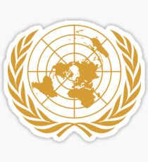 Emblem of the United Nations (Gold) Sticker