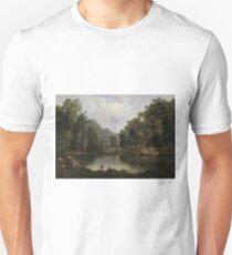 Blue Hole, Flood Waters, Little Miami River by Robert Seldon Duncanson T-Shirt