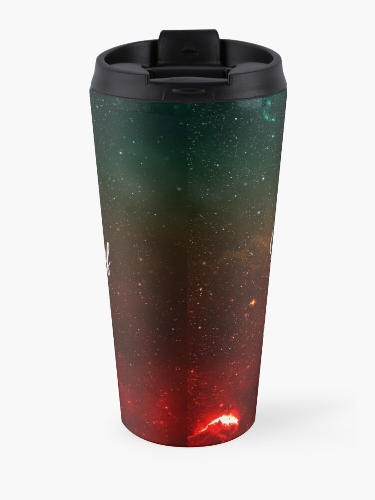 Alternate view of Hitchhiker's Guide Quote Travel Mug