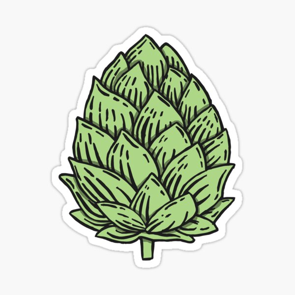 Beer Hops Sticker