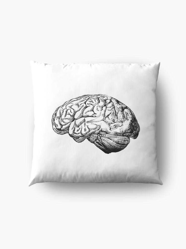 Alternative Ansicht von Anatomie des Gehirns Bodenkissen