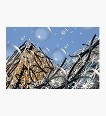 Birmingham Library (With Bubbles) Photographic Print