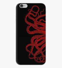 Vinilo o funda para iPhone Ilustración roja de los tentáculos del pulpo de la vendimia