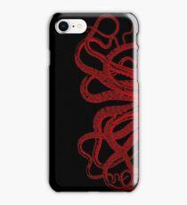 Red Vintage Octopus  Tentacles Illustration iPhone Case/Skin