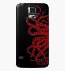Rote Weinlese-Kraken-Tentakel-Illustration Hülle & Klebefolie für Samsung Galaxy