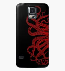 Red Vintage Octopus  Tentacles Illustration Case/Skin for Samsung Galaxy