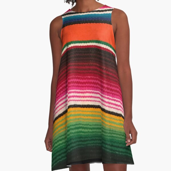 BEAUTIFUL MEXICAN SERAPE A-Line Dress