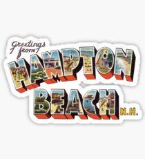 Greetings from Hampton Beach, New Hampshire Sticker