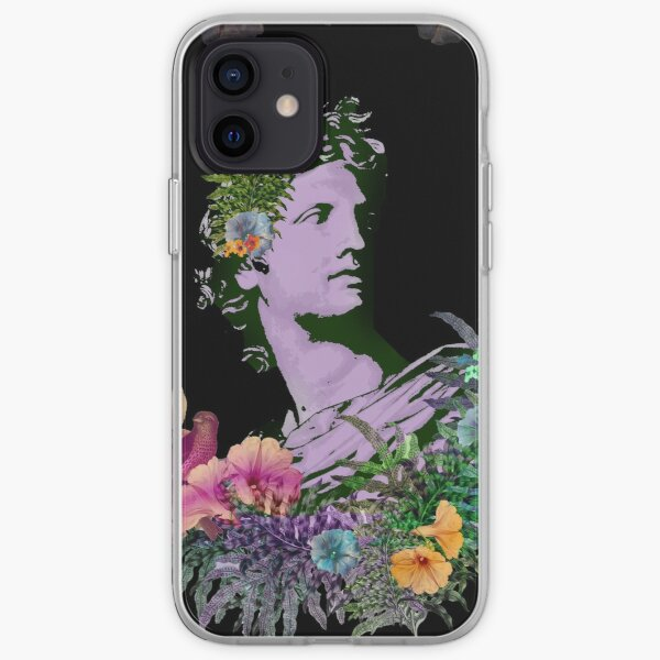 Vaporwave Apollo - Colorful Greek Art Collage with Flowers and Birds  iPhone Soft Case