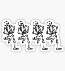 Spooky Scary Skeletons Sticker