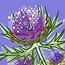 Thistle design in paint for smaller items by jennyjeffries