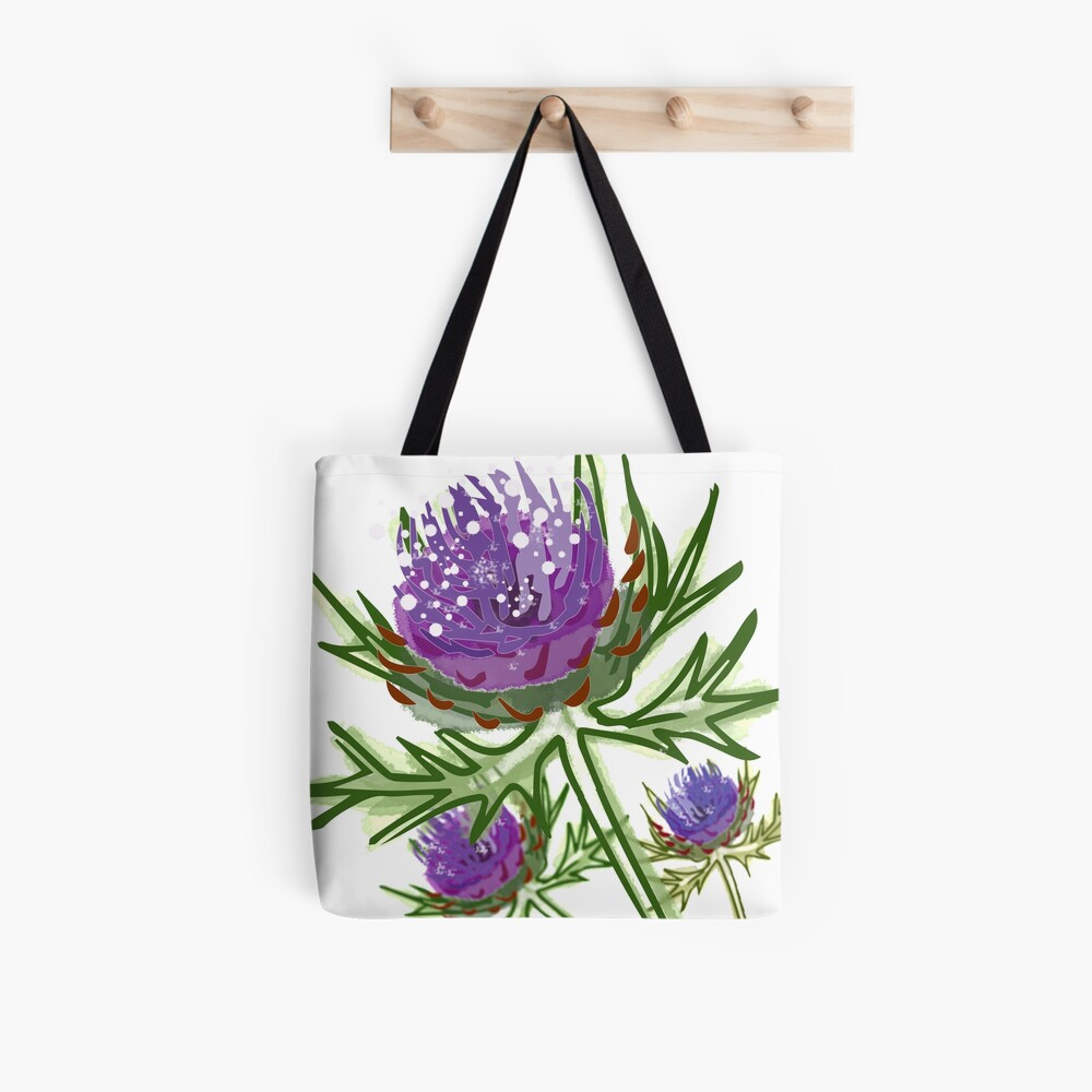 Thistle design in paint for smaller items Tote Bag