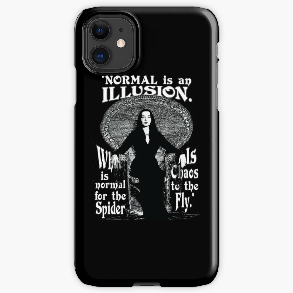 """Morticia Addams-""""Normal Is An Illusion..."""" iPhone Case & Cover"""