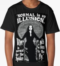 "Morticia Addams-""Normal Is An Illusion..."" Long T-Shirt"