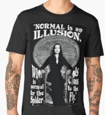 "Morticia Addams-""Normal Is An Illusion..."" Men's Premium T-Shirt"