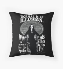 """Morticia Addams-""""Normal Is An Illusion..."""" Floor Pillow"""