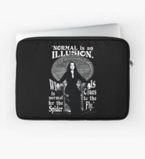"""Morticia Addams-""""Normal Is An Illusion..."""" Laptop Sleeve"""