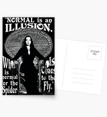 "Morticia Addams-""Normal Is An Illusion..."" Postcards"
