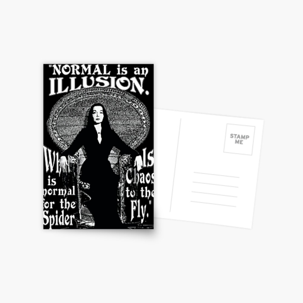 "Morticia Addams - ""Normal ist eine Illusion ..."" Postkarte"
