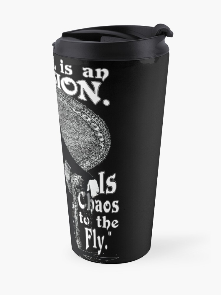 """Alternate view of Morticia Addams-""""Normal Is An Illusion..."""" Travel Mug"""