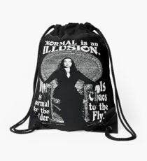 "Morticia Addams-""Normal Is An Illusion..."" Drawstring Bag"