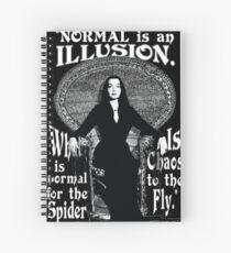 """Cuaderno de espiral Morticia Addams: """"Normal es una ilusión ..."""""""