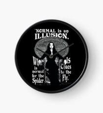 "Morticia Addams-""Normal Is An Illusion..."" Clock"