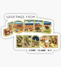 Greetings from Jones Beach, Long Island, New York Sticker